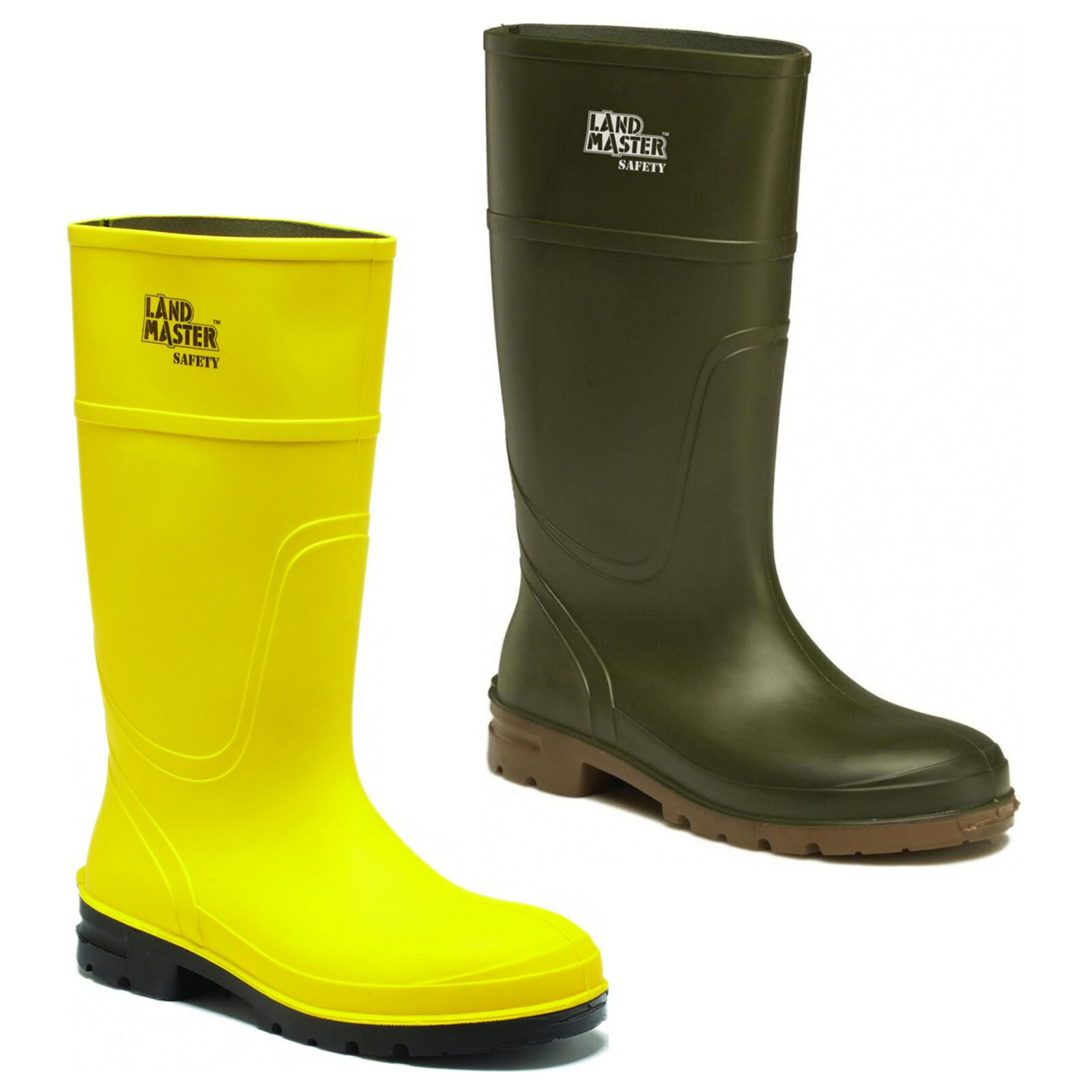 Dickies LANDMASTER Safety s5 Wellingtons IMPERMEABILE IN ACCIAIO PUNTALE STIVALI uk6-12