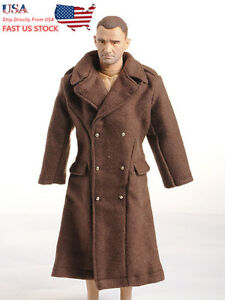 """1/6 Dragon WWII US Army Brown Overcoa Man Clothes F/12""""Male Figure Body USA St."""
