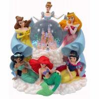 Disney Parks Princess Around The Castle Musical Snow Globe With Box