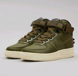 db5a4e7258 10.5 WOMEN'S Nike AF1 Air Force 1 Hi UT GREEN Utility Olive Canvas ...