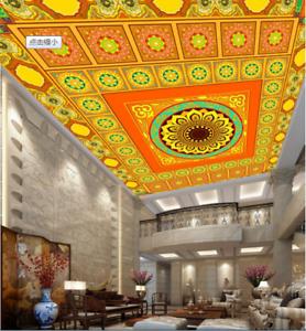 3D Bright color 74 Ceiling Wall Paper Print Wall Indoor Wall Murals CA Lemon
