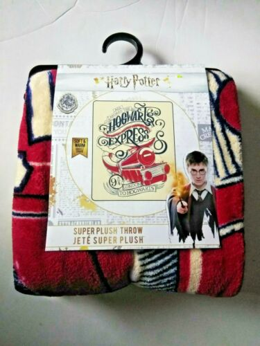 Harry Potter Hogwarts Express All Aboard Superplush Throw Blanket Brand NEW!