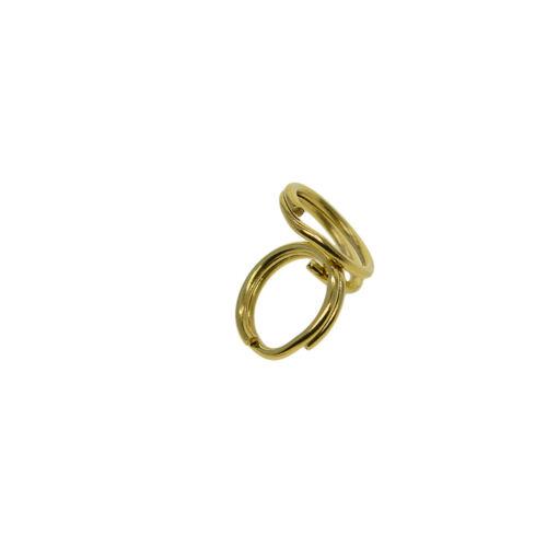 50 pcs Split Ring Schlüsselanhänger Metall Schlüsselringe Doppelschleife