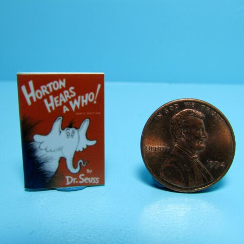 Dollhouse Miniature Replica of Book Dr Seuss Horton Hears a Who ~ B085