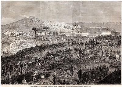 Assedio di Gaeta Bersaglieri Vedette Piemontesi Passepartout 1860