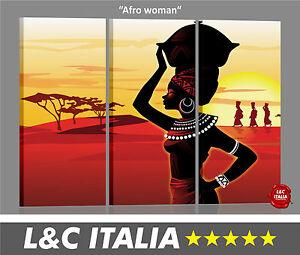 Afro woman 3 QUADRI MODERNI CASA ARREDAMENTO POSTER PICTURE BILD ...