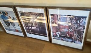 Set-Of-Three-Professionally-Framed-Rockwell-Prints