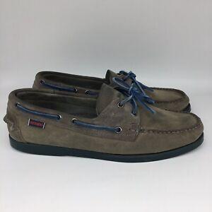 Sebago-Docksides-Boat-Shoe-Mens-Size-10-M-Gray-Blue