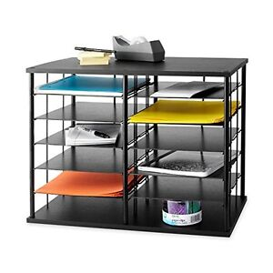office storage organizer shelves desk cabinet holders paper file rh ebay com Metal Desk Organizer Metal Desk Organizer
