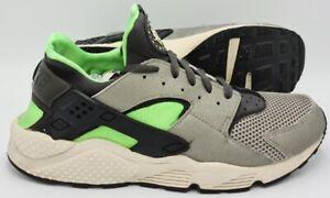 Scarpe-da-ginnastica-Nike-Air-Huarache-318429-013-Grigio-Notte-Nebbia-Verde-UK10-5-US11-5-EU45-5