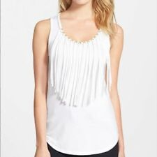 4da6edf635795 item 5 Michael Kors White Tank Top Size XS NEW Grommet Fringe Trim Knit  -Michael Kors White Tank Top Size XS NEW Grommet Fringe Trim Knit
