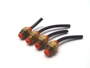 Lot-of-4-SMC-3-8-034-Pneumatic-Connector-Push-Fitting
