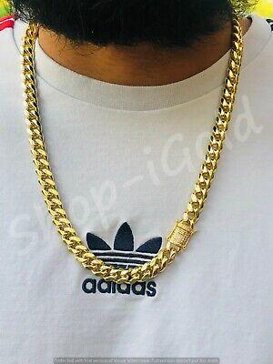 Maestría canción haz  Mens 14k gold Thick Miami Cuban Link Choker necklace chain Diamondlock 10mm  24