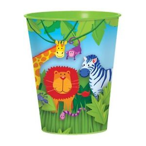 Jungle-Animal-Friends-16oz-Plastic-Cup-Birthday-Party-Bag-Filler-Loot-Favour