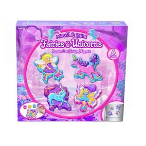 Stampo & Pittura Unicorno & Fatine Magneti Frigo Crea il Tuo Cerotto Fairy Kit
