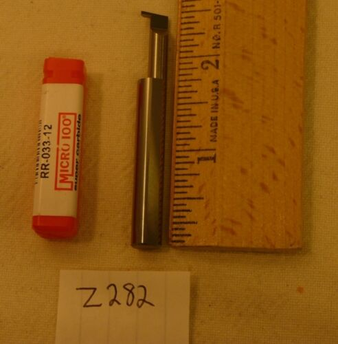 Z282 1 NEW MICRO 100 CARBIDE RETAINING RING GROOVING TOOL RR-033-12