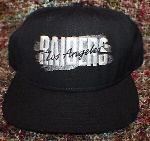 da9f1e2e 90's NFL New Era Snapback Pro Hat Los Angeles Raiders NOS Unused ...