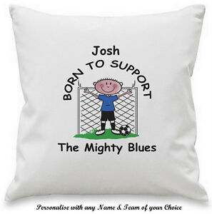 PERSONALISED Novelty Any FOOTBALL Team CUSHION COVER Gift Ideas For ...