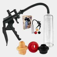 Vakuum Pumpe Potenzpumpe Penispumpe Perfect mit 3 Latexmanschetten + Griff