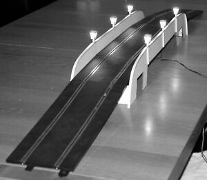 1-32-Escala-Kit-De-Puente-Grand-Con-Luces-Para-los-disenos-de-SCALEXTRIC-estatico