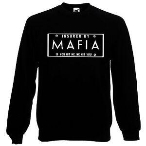 Mafia Number Plate Hit You Quote Assassins Jumper Sweatshirt Sweats Top AD31
