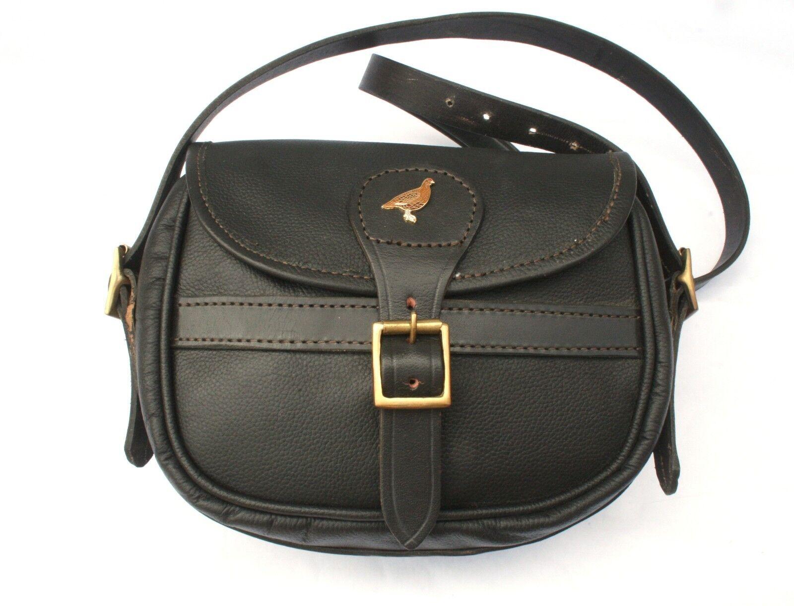 Grouse Enamel Leather Shooting Cartridge Bag 75 Capacity Game Shooting Gift
