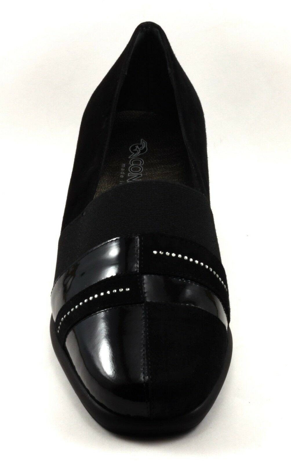 Schuhe CONFORT Damens ELEGANTI CALDO INVERNO IN CAMOSCIO NERO E VERNICE NERO CAMOSCIO n. 39 42338f