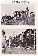 GORIZIA RISORTA RICOSTRTUZIONE BOMBARDAMENTI WW1 STRACCIS PEUNA LUCINICO 1926