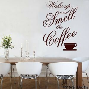 Wall-Quote-Vinyl-Decal-034-Wake-up-and-smell-the-coffee-034-for-your-home-or-cafe