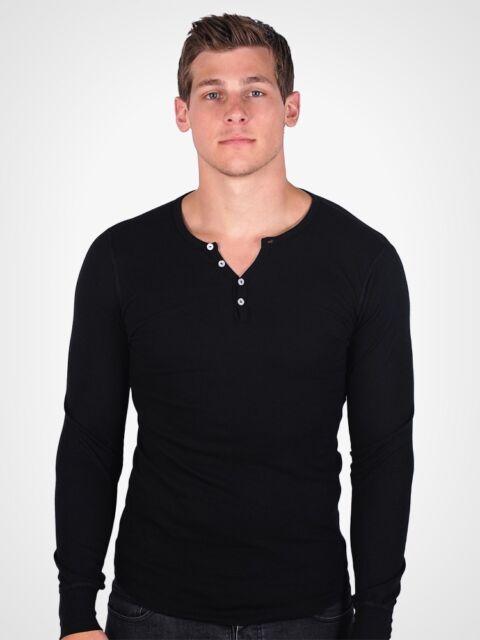 American Apparel Henley Thermal T457 Dexter Kills Showtime Long Sleeve T Shirt