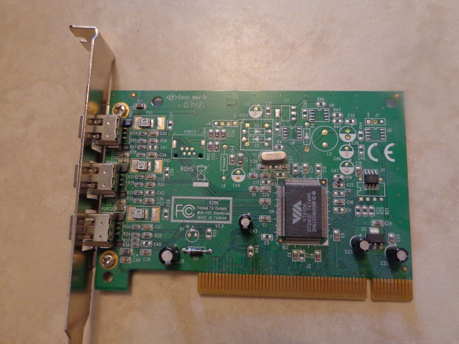 C2G 3-PORT FIREWIRE CARD BOARD IEEE1394 Port Authority PCI 29999
