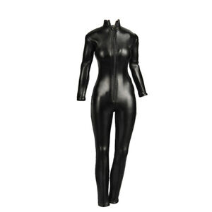 """1//6 Scale Black Jump Suit with Knee Pads for 12/"""" Action Figure"""
