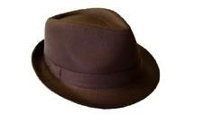 Brown Cotton Fedora Hat Gangster Hat