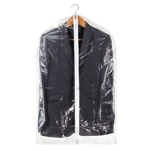 Hangerworld-Pack-of-18-Clear-40-034-Showerproof-Suit-Clothes-Covers-Garment-Bags