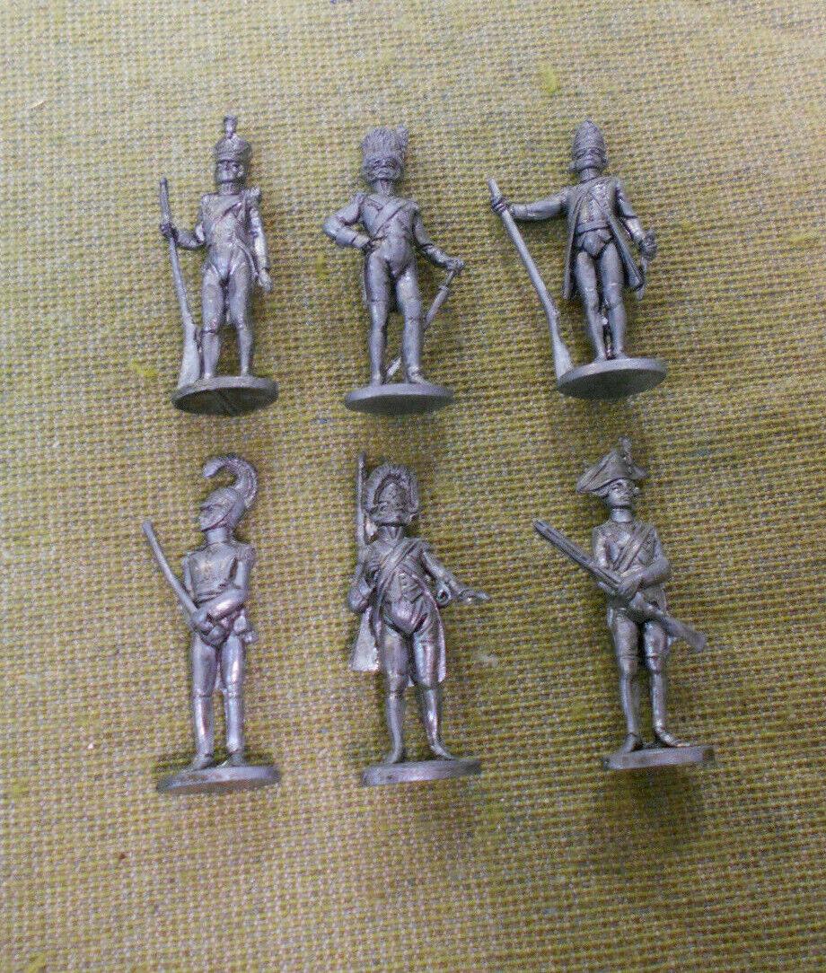OO.  SET(6) 18th-19th CENTURY SOLDIER METAL FIGURES