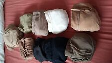 9 pairs of ladies tights, unbranded,different colors, size aroun M-L,new no tag