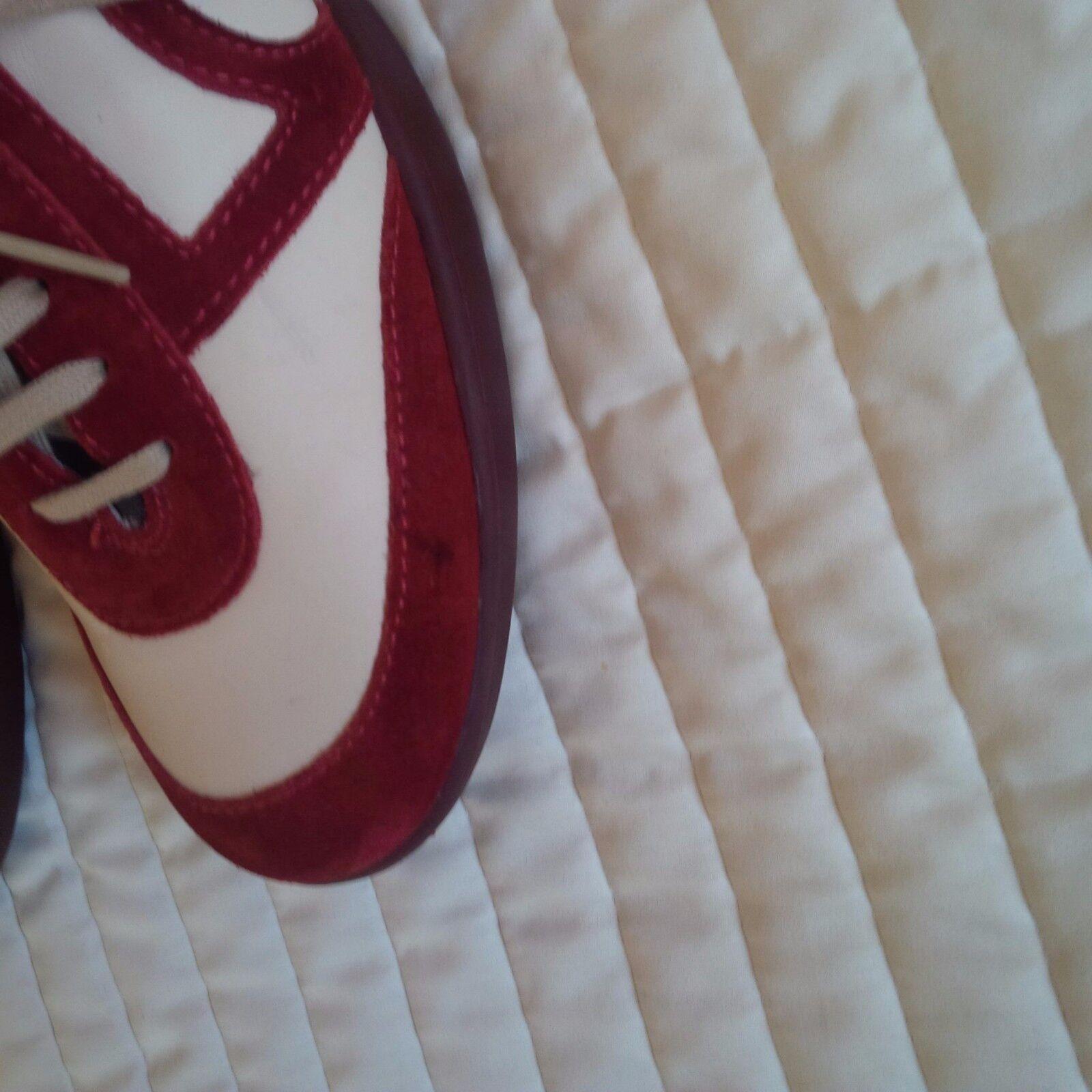 NUOVE Scarpe Camper Pelle Da Scamosciata Scarpe Da Pelle Ginnastica Rosso Crema Misura 5 0f075f