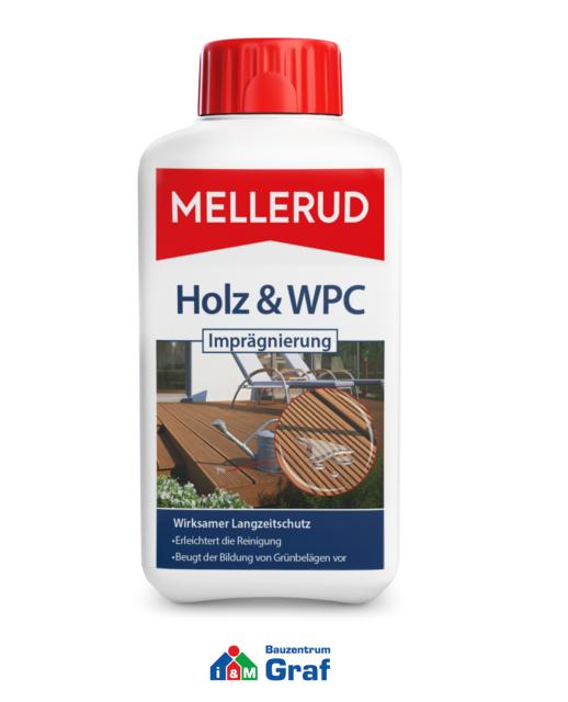 Mellerud Bois & Wpc Imprégnation 500 ML,Protection pour / Bpc-Oberflächen