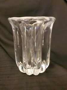 Beautiful-Vintage-ORREFORS-Crystal-VASE-Rare-4133-221-Signed-Sweden-Swidish
