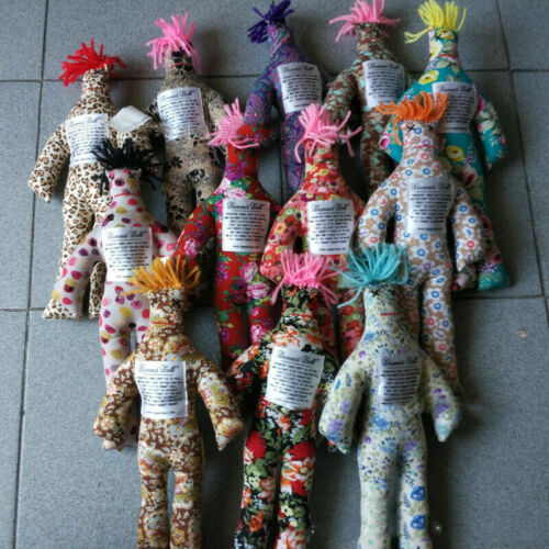 """New Random Pattern Color Stress Relief 12/"""" Dammit Doll Plush Toy"""