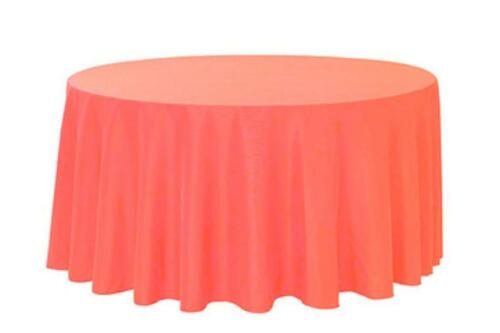 "2 Plastic Round Tablecloths 82/"" Diameter Table Cover Coral"