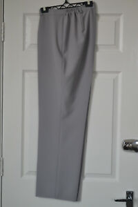 Womens-gray-tailored-office-smart-casual-straight-leg-plus-size-trousers-20