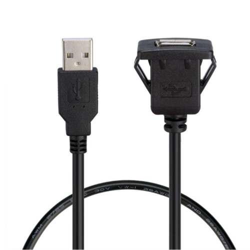 1m//3.3ft USB2.0 A Male to USB2.0 A Female Car Flush Mount Extension Cable PVC