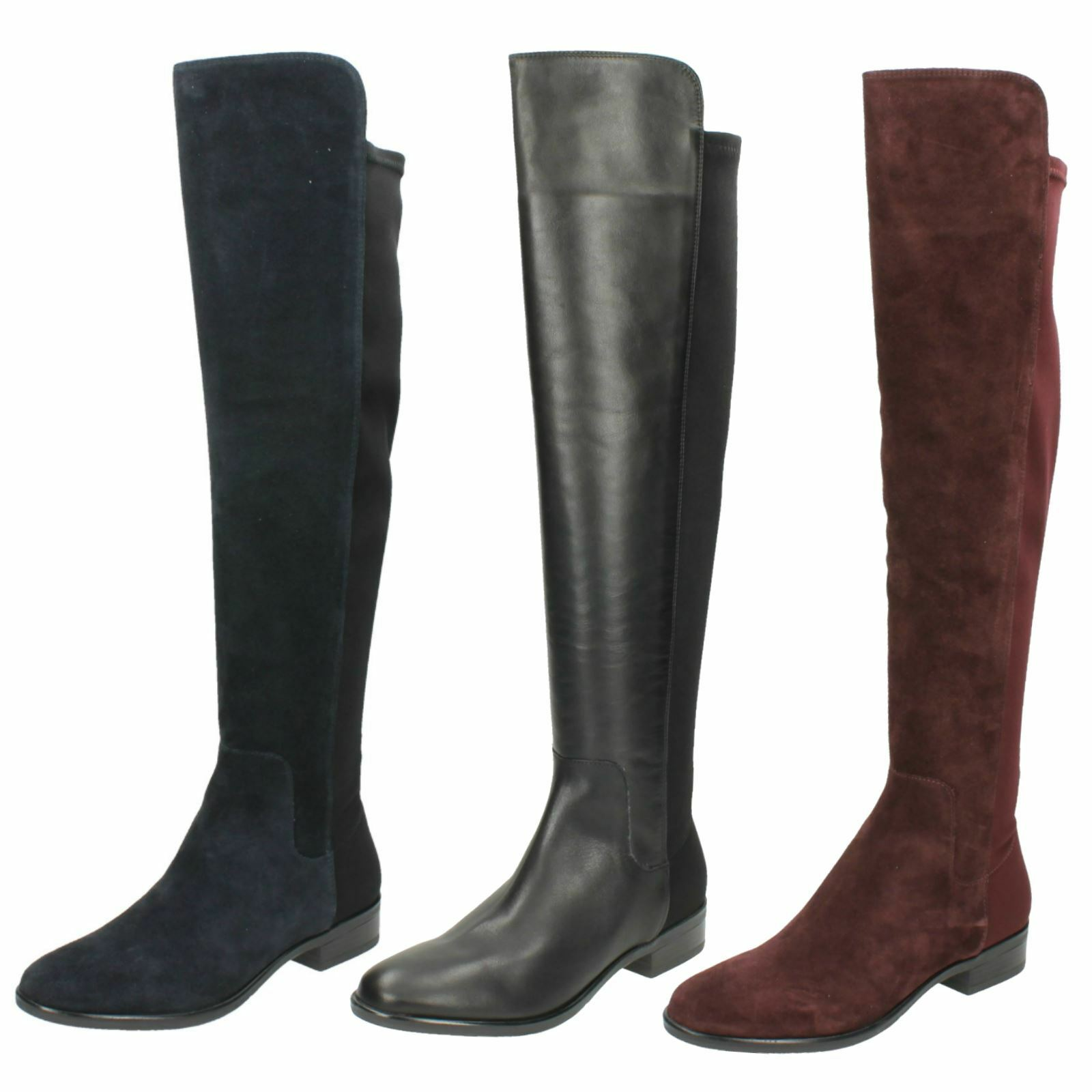 Ladies Clarks Casual Knee High Boots Caddy Belle