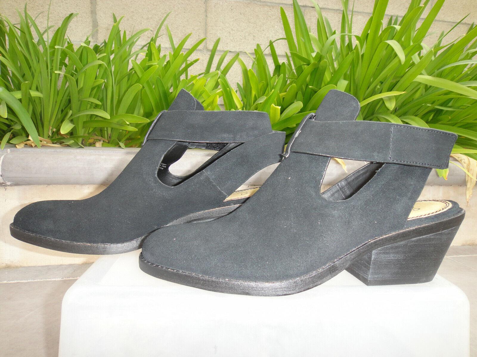 SPENDID Cadell Tobillo botas Taco de Bloque botín apilados, Correa Negra WMN Talla US7