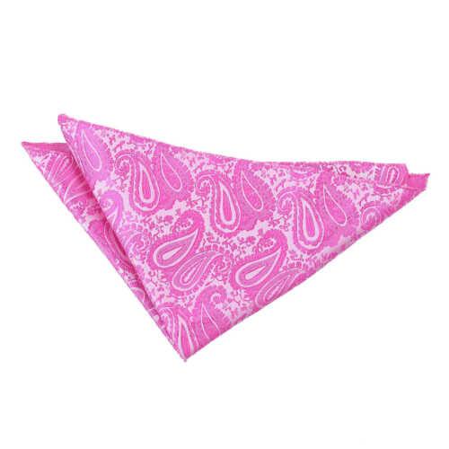 DQT Woven Floral Paisley Fuchsia Pink Formal Handkerchief Hanky Pocket Square