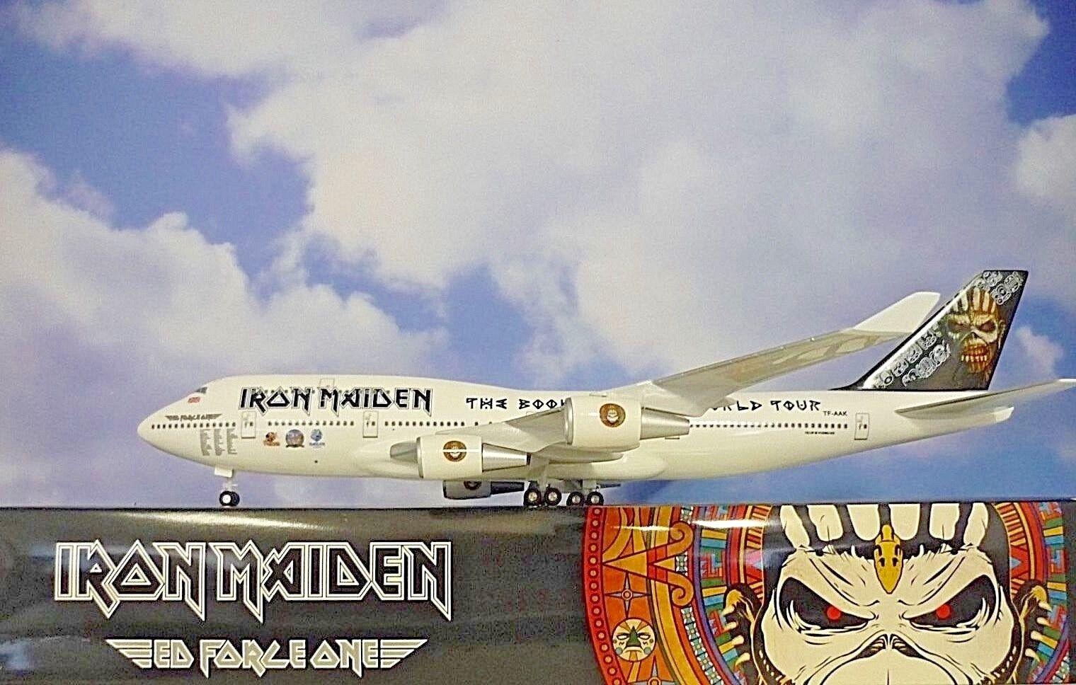 Limox alas 1 200 Boeing 747-400 Iron Maiden TF-aak 60090+ Herpa alas Catálogo