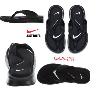 SZ-10-US-SOLD-OUT-Nike-Ultra-Comfort-Thong-Men-039-s-Flip-Flops-Sandals-Black
