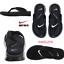 SZ-10-US-SOLD-OUT-Nike-Ultra-Comfort-Thong-Men-039-s-Flip-Flops-Sandals-Black thumbnail 1