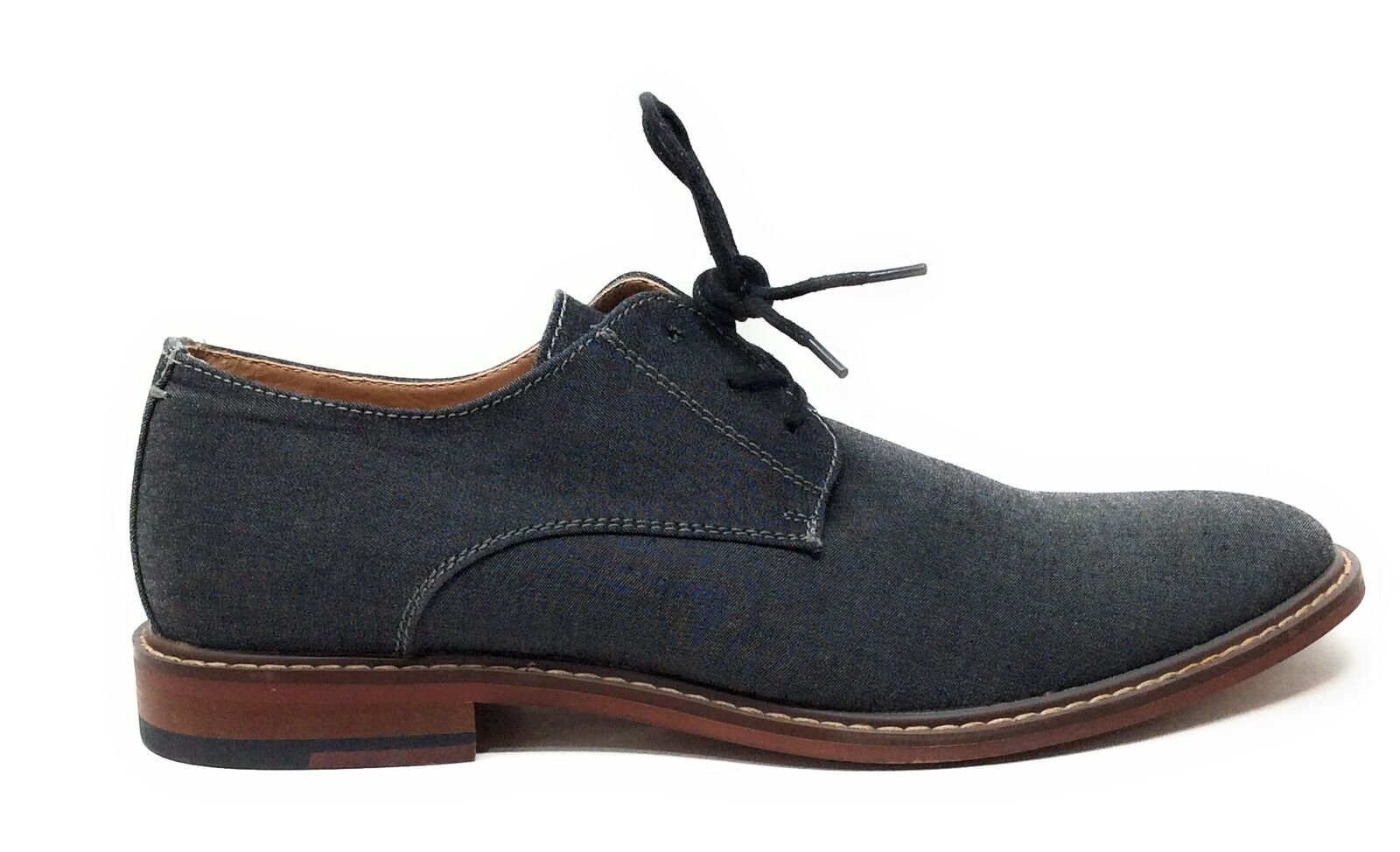 J75 By Jump Mens Primo Oxford Dress Shoes Round Toe Gray Size 10 M US